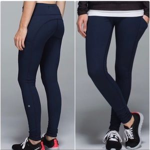 Lyly lemon Athletics Navy Blue Workout Leggings